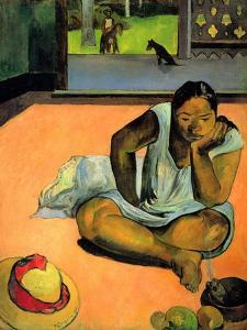 La Boudeuse (Te Faaturuma) by Paul Gauguin