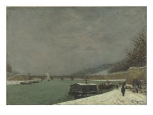 La Seine au pont d'Iéna. Temps de neige by Paul Gauguin