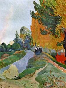 Landscape in Arles Near the Alyscamps, 1888 by Paul Gauguin