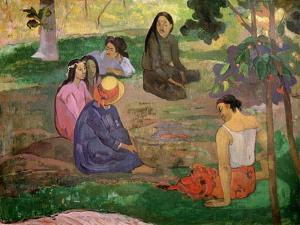 Les Parau Parau (Conversation), 1891 by Paul Gauguin
