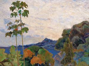 Martinique Landscape, 1887 (Detail) by Paul Gauguin