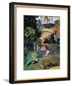 Matamoe (Death, Landscape with Peacock), 1892 by Paul Gauguin