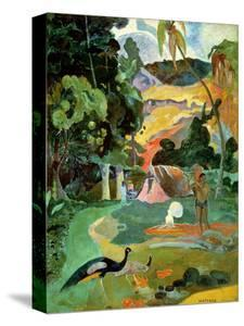 Matamoe Or, Landscape with Peacocks, 1892 by Paul Gauguin