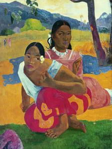 Nafea Faaipoipo (When are You Getting Married?), 1892 by Paul Gauguin