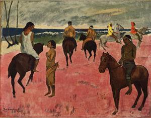 On Horseback at Seashore, 1902 by Paul Gauguin