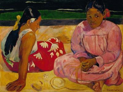 Paul Gauguin / Tahitian Women on the Beach, 1891 by Paul Gauguin