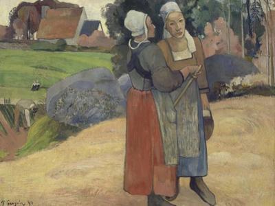 Paysannes bretonnes by Paul Gauguin