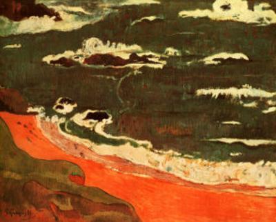 Plage du Pouldu by Paul Gauguin