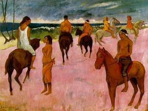 Riders on the Beach, 1902 by Paul Gauguin