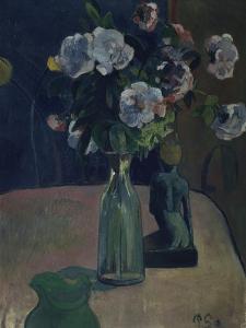 Roses et statuettes by Paul Gauguin