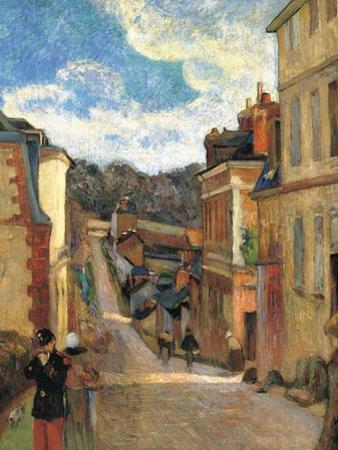 Rue Jouvenet in Rouen, 1884 by Paul Gauguin