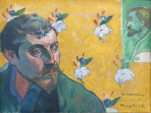 Self-Portrait with Portrait of Bernard (Les Miserables) by Paul Gauguin