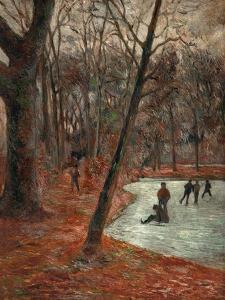 Skaters in the Park in Frederiksberg, 1884 by Paul Gauguin