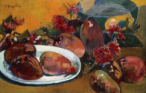 Still Life with Mangoes by Paul Gauguin