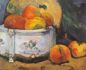 Still Life with Peaches by Paul Gauguin