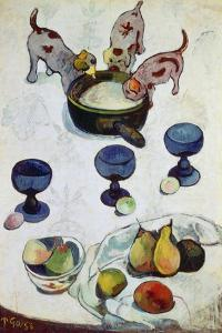 Still Life with Three Puppies, 1888 by Paul Gauguin