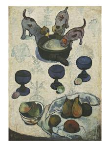 Still Life with Three Puppies by Paul Gauguin