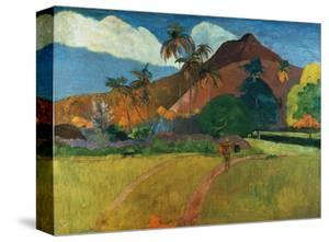 Tahitian Mountains by Paul Gauguin