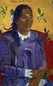 Tahitian Woman with a Flower, 1891 by Paul Gauguin
