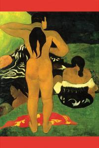 Tahitians on Beach by Paul Gauguin