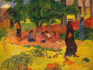 Taperaa Mahana, 1892 by Paul Gauguin