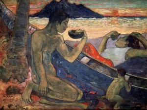Te Vaa (The Cano), 1896 by Paul Gauguin