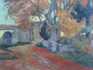 The Alyscamps in Arles by Paul Gauguin