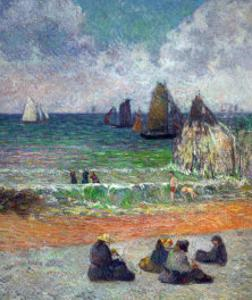 The Beach at Dieppe, or the Bathers, 1885 by Paul Gauguin