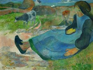 The Cowherd or Young Woman from Brittany, 1889 by Paul Gauguin