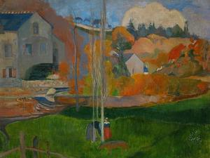 The David Mill, Brittany Landscape, 1894 by Paul Gauguin