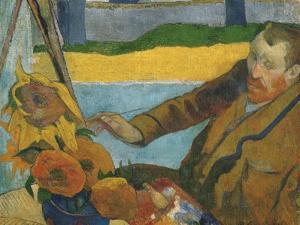 Vincent Van Gogh Painting Sunflowers by Paul Gauguin by Paul Gauguin