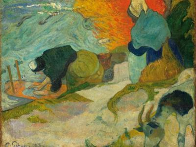 Washerwomen in Arles (Laveuses À Arle), 1888 by Paul Gauguin