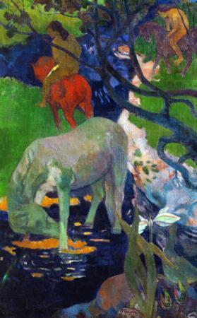 White Horse, 1898 by Paul Gauguin