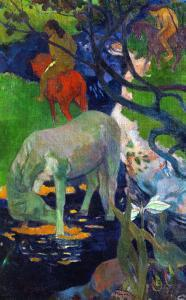 White Horse, 1898 by Paul Gauguin