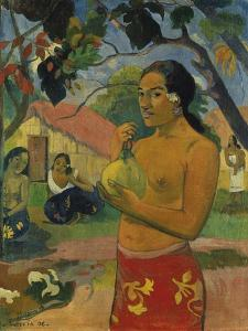 Woman, Holding Fruit (Where Do You Go?), 1893 by Paul Gauguin