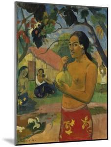 Woman, Holding Fruit (Where Do You Go?), 1893 by Paul Gauguin