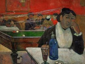 Woman in a Coffeehouse, Madame Ginoux in the Cafe De La Gare in Arles by Paul Gauguin