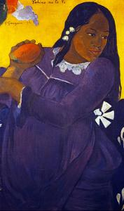 Woman With a Mango by Paul Gauguin