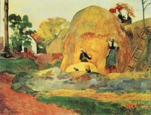 Yellow Haystacks, The Harvest by Paul Gauguin