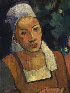 Young Woman, from Paysannes Bretonnes, Breton Peasant Women, 1894, Detail by Paul Gauguin