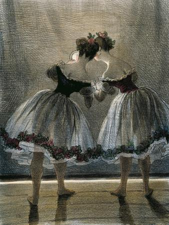 Two Dancers Seen from Behind
