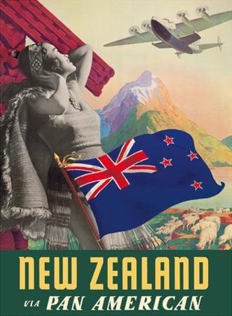 New Zealand - Via Pan American Airways by Paul George Lawler