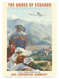 The Andes of Ecuador - South America - Pan American Airways (PAA) by Paul George Lawler