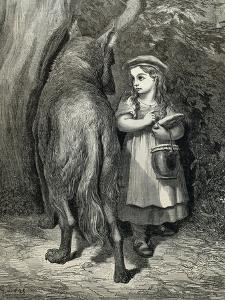 Little Red Riding Hood and the Wolf in the Forest by Paul Gustave