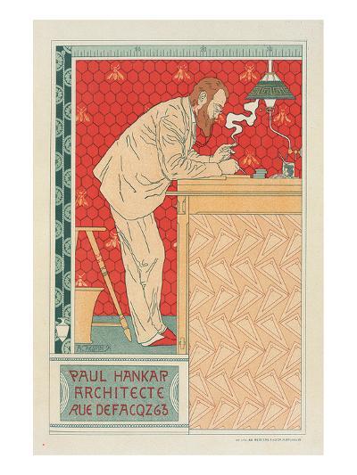 Paul Hankar Architect-Adolphe Crespin-Art Print