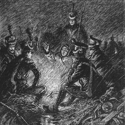 'Both French and Allies Bivouacked in Mud and Water', 1902