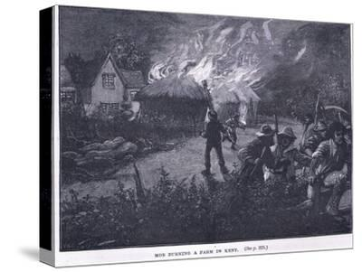 Mob Burning a Farm in Kent in 1830