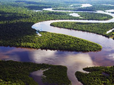 Amazon, Amazon River, Bends in the Nanay River, a Tributary of the Amazon River, Peru