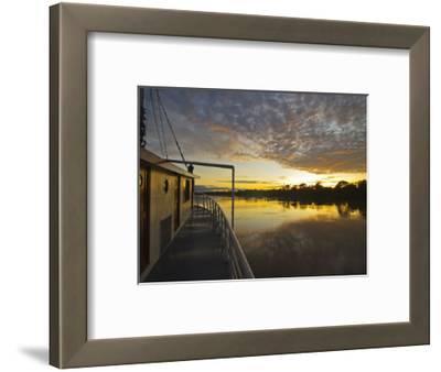 Amazon River, Sunrise on the Ayapua Riverboat, Yavari River, a Tributary of the Amazon River, Peru