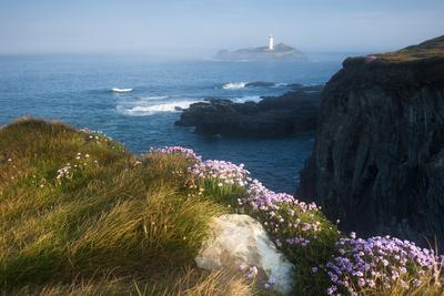 Coastal Cliffs, Godrevy Point, Nr St Ives, Cornwall, England